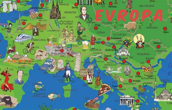 decija karta sveta XXL DEČIJA KARTA SVETA : Domaća Knjižara decija karta sveta